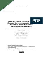 CABRERA Y VARGAS. TRANSFEMINISMO, DECOLONIALIDAD Y EL ASUNTO DEL CONOCIMIENTO