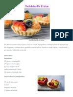Como Hacer Mini Tartaletas de Frutas