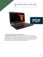 PC Portable LENOVO LEGION Y720 i7 7è Gén 16Go 1To 80VR00C6FG