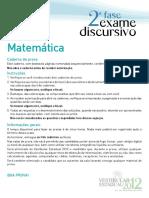 2012 ED Matematica