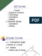 Horizontal Curves