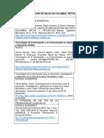 Casos de Innovación en Salud en Colombia