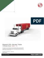 Semi Trailer Tractor Truck Borden