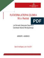 Plataforma Jatropha Colombia