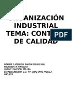 Control de Calidad en La Industria Farmaceutica