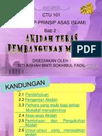 Bab 2 - Akidah Teras Pembangunan Muslim (Terkini) 9.1.2017
