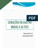 Gerações Da EaD No Brasil e as TICs