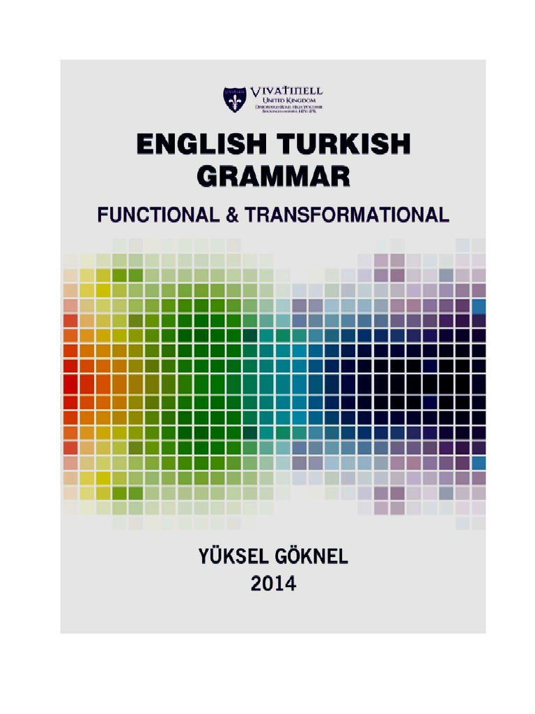 English Turkish Grammar Functional And Transformational Verb Adverb