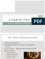 meal project- a tour of italy weebly