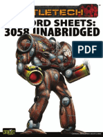 BATTLETECH - Record Sheets 3058 Unabridged - Clan Mech, Star League & Battle Armor