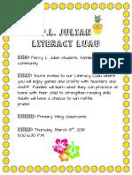 literacy luau flyer