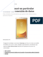 Samsung Lanzó Un Particular Celular Sin Conexión de Datos