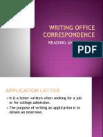 Writing Office Correspondence