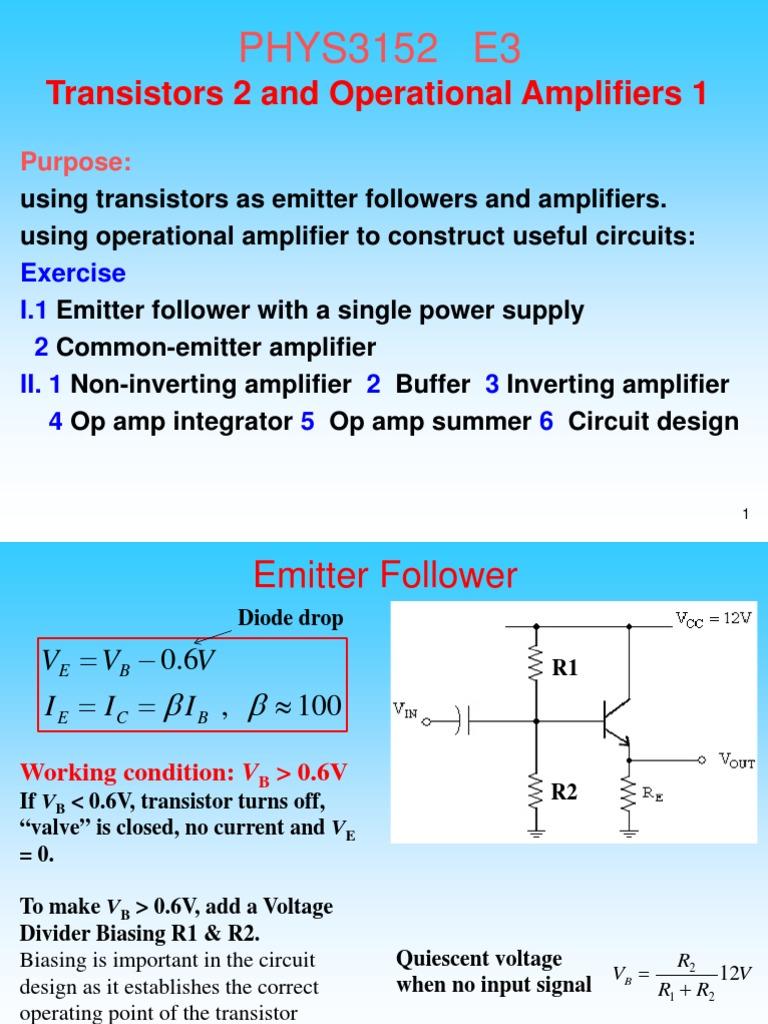 3152e3 Operational Amplifier Inverting Vs Noninverting
