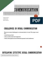 Rural Communication