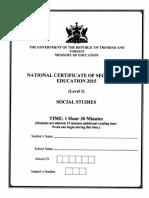 NCSE 2015 Social Studies