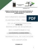 Plan de Gestión Integral de Residuos Sólidos PGIRS 2017