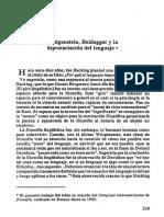 Wittgenstein y Heidegger la hispostación del lenguaje.pdf