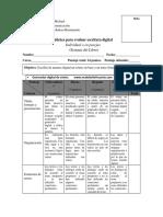 Rúbrica Para Evaluar Escritura Digital