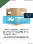 Correo Argentino- Servicios de Envío y Descuento en La Feria Del Libro - CONABIP