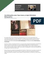 Guía Bibliográfica Sobre Túpac Amaru y El Siglo XVIII