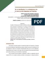Teorías Sobre La Enseñanza y El Aprendizaje en Maestros de Educación Primaria en Sonora