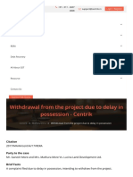 Withdrawal From the Project Due to Delay in Posses