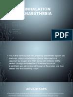 Inhalation Anaesthesia