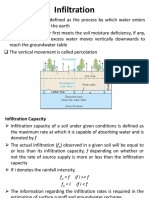 Infiltration and Runoff