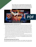 Prediksi West Ham United vs Stoke City 17 April 2018 Piala Dunia Rusia 2018