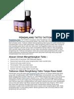 Penghilang Tatto