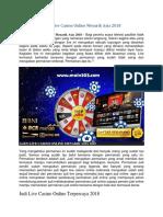 Agen Live Casino Online Menarik Asia 2018