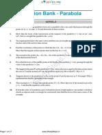 Question Bank Parabola Maths