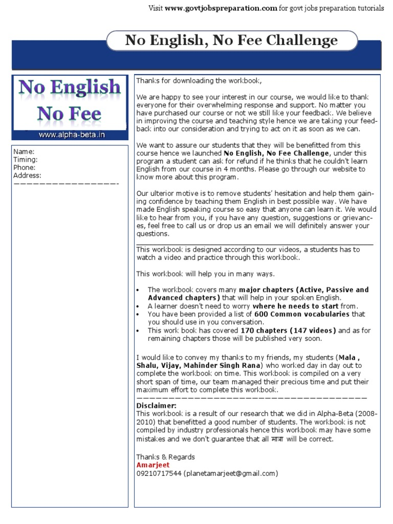 Spoken English Course Basic- Advanced (143 Lessons)