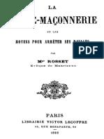Comment Arreter La Franc Maconnerie 1882