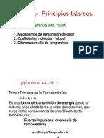 Principios Básicos de Transmisión de Calor