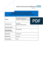 Continence Urology Colorectal Service Catheter Policy 2015