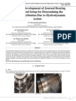Design and Development of Journal Bearing Experimental Setup for Determining the Pressure Distribution Due to Hydrodynamic Action