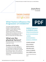 What Factors Influence the Progression of Childbirth