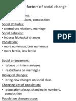 Biological Factors of Social Change