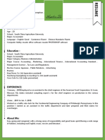 (Personalized Resume) Creative Resume With One-Page 04