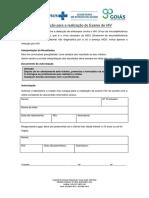 Termo de Autorização Para a Realização Do Exame de HIV