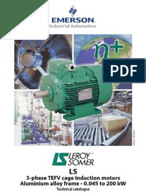 Motor Leroy Somer Trifasicopdf Bearing Mechanical