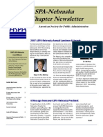As Pa Newsletter Spring Summer 2007