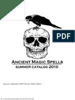 Ancient Magic Spells Catalog