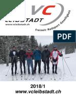 Vereinsheft Veloclub Leibstadt 2018/1