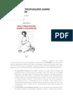 Cinco Proposições Sobre a Psicanálise