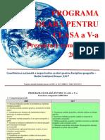 Programa v Comparativ 2009 2017