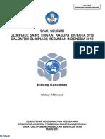 OSK Kebumian SMA 2018 Soal [Www.defantri.com]