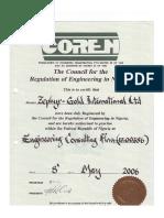 COREN Certificates